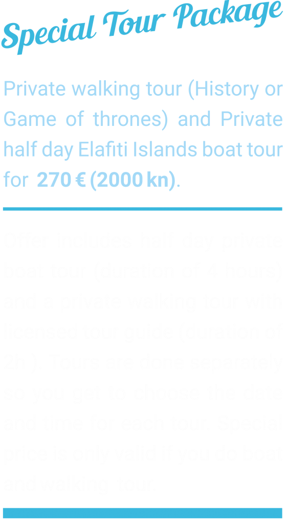 Private tour package